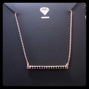 Ice Slim Bar Pendant Necklace